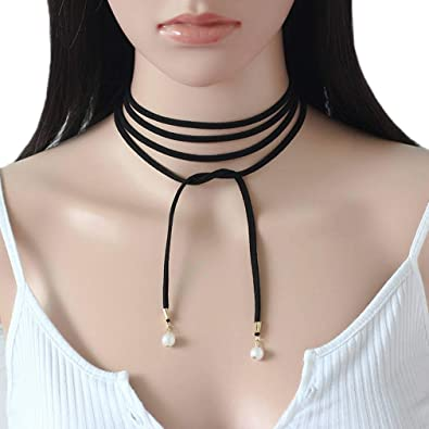 collier femme lacet