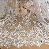 Ivory Lace Fabric Eyelash Chantilly Floral