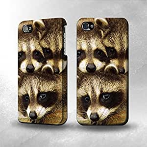 taoyix diy Apple iPhone 5 / 5S Case - The Best 3D Full Wrap iPhone Case - Baby Raccoons