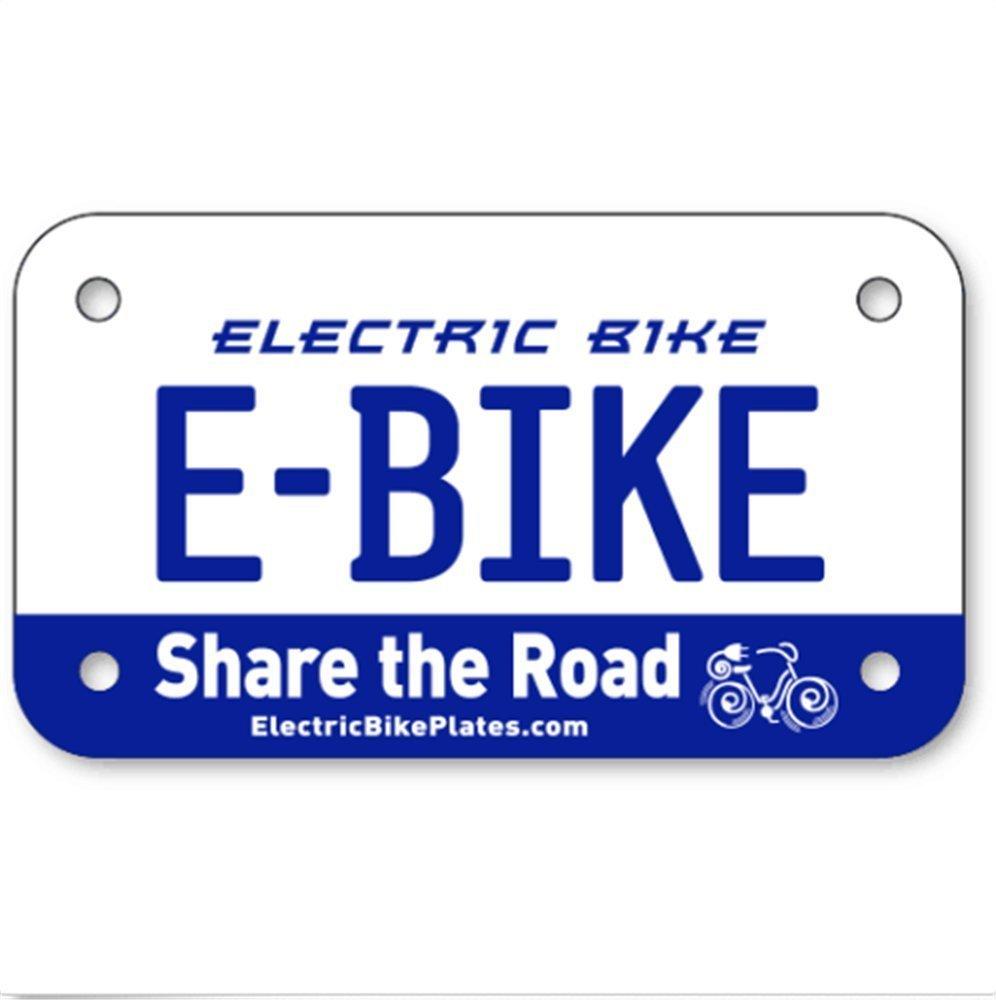 E-BIKE Electric Scooter Bike License Plates 4''x7''