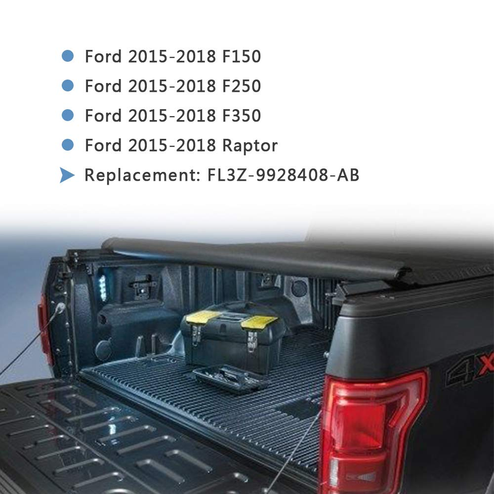 Tutor Auto Bed Cargo Tie Down Brackets Box Link Tie Down Brackets Anti-Thief Bed Load Hook Reinforcement Panel for Ford F150 F250 F350 Raptor 2015-2018 4Pcs Replace FL3Z-9928408-AB