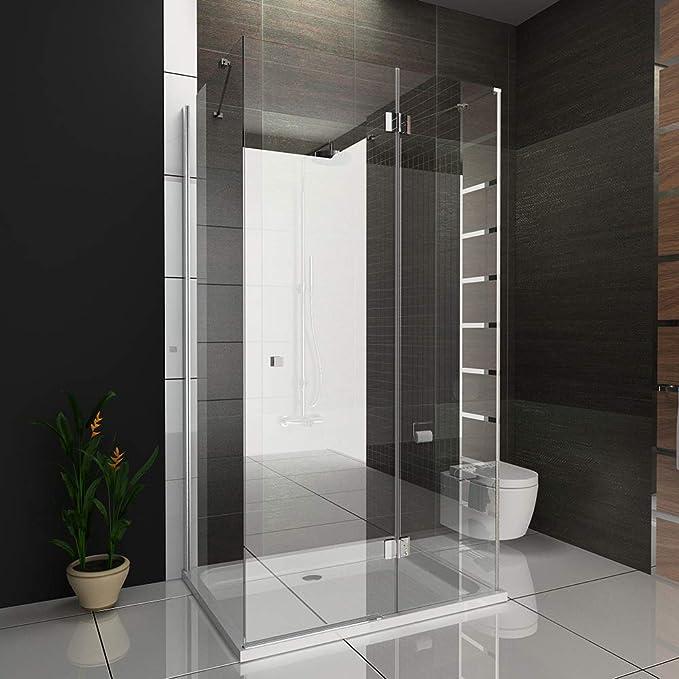 Ducha cabina de ducha U forma Mampara de 6 mm Easy Clean Cristal ...