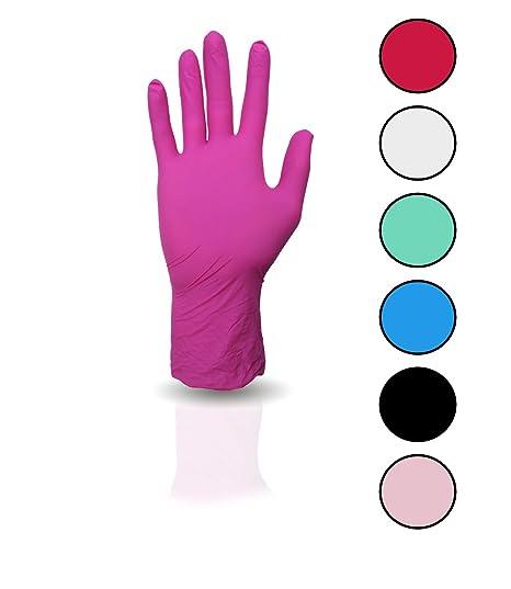 100 Stück Nitril Einweghandschuhe, Einmalhandschuhe puderfreie und unsterile Kochhandschuhe Tättowierhandschuhe Tattoo Handsc