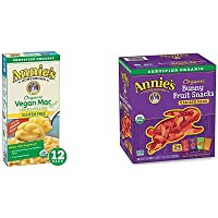 Annie's Organic Vegan Gluten-Free Elbows & Creamy Sauce Macaroni & Cheese, 12 Boxes, 6oz (Pack of 12) - Packaging May…