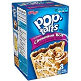 Pop-Tarts, Frosted Cinnamon Roll, 8-Count Tarts (Pack of 12)