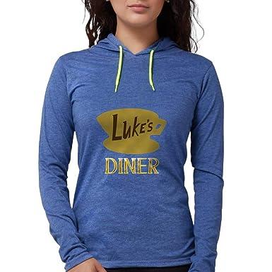 4179b755 CafePress Luke's Diner Long Sleeve T Shirt Womens Hooded Shirt Heather Blue