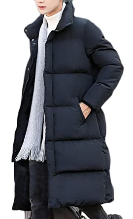 cb67c4f18bb11 GAGA Men s Winter Thickened Puffer Long Down Jacket Ski Parka Snow Down  Fill Coat Black XS