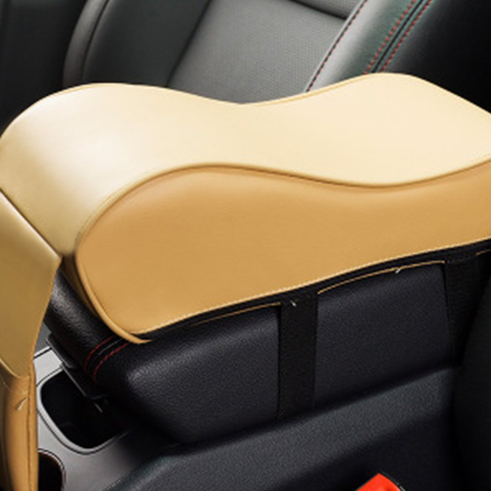 UxradG PU Leather Memory Foam Car Armrest Cushions Non-toxic Car Armrest Head Neck Rest Pillow Pad Covers Car Center Console Memory Cotton Arm Rest Box Pad GOMASINSUD62954