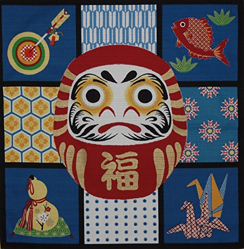 Traditional Checkerboard (Furoshiki Wrapping Cloth Daruma Checkerboard Motif Japanese Fabric 50cm)