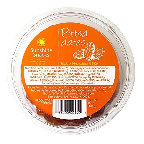 Sunshine Snacks Pitted Date 28 oz Tray (1.75 lb) by Sunshine Snacks