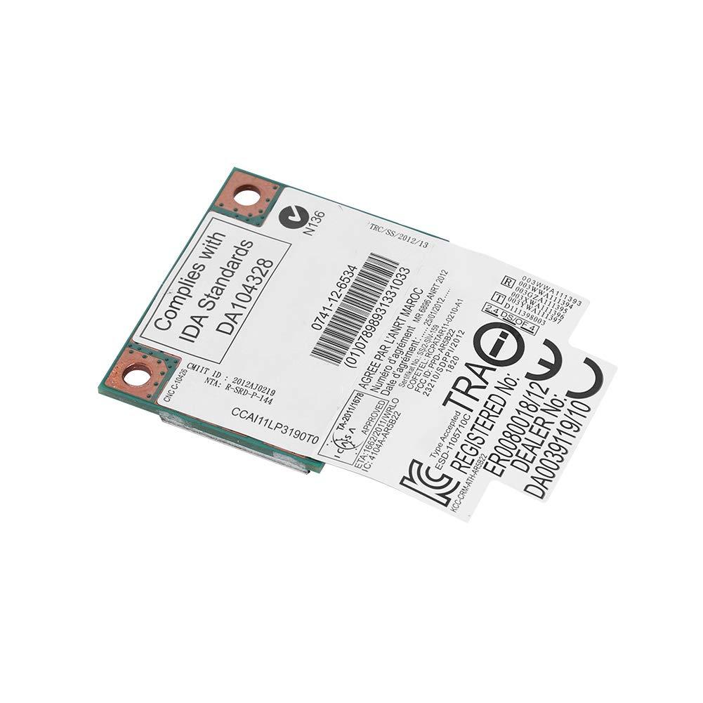 Tarjeta de red de 2.4G 5GHz AR5B22 de Banda Dual Tarjeta PCI-E de Alta Velocidad Hasta 300 Mbps La Mitad de la Tarjeta Mini-PCI-E es Apta para Computadoras Port/átiles con Placa Base Mini-PCI-E Bluet