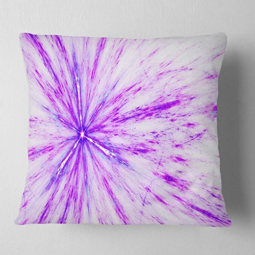 Designart CU8030-18-18 Purple Flash of Supernova' Abstract Cushion Cover for Living Room, Sofa Throw Pillow, 18 in. x 18 in. in, Insert Printed on Both Side