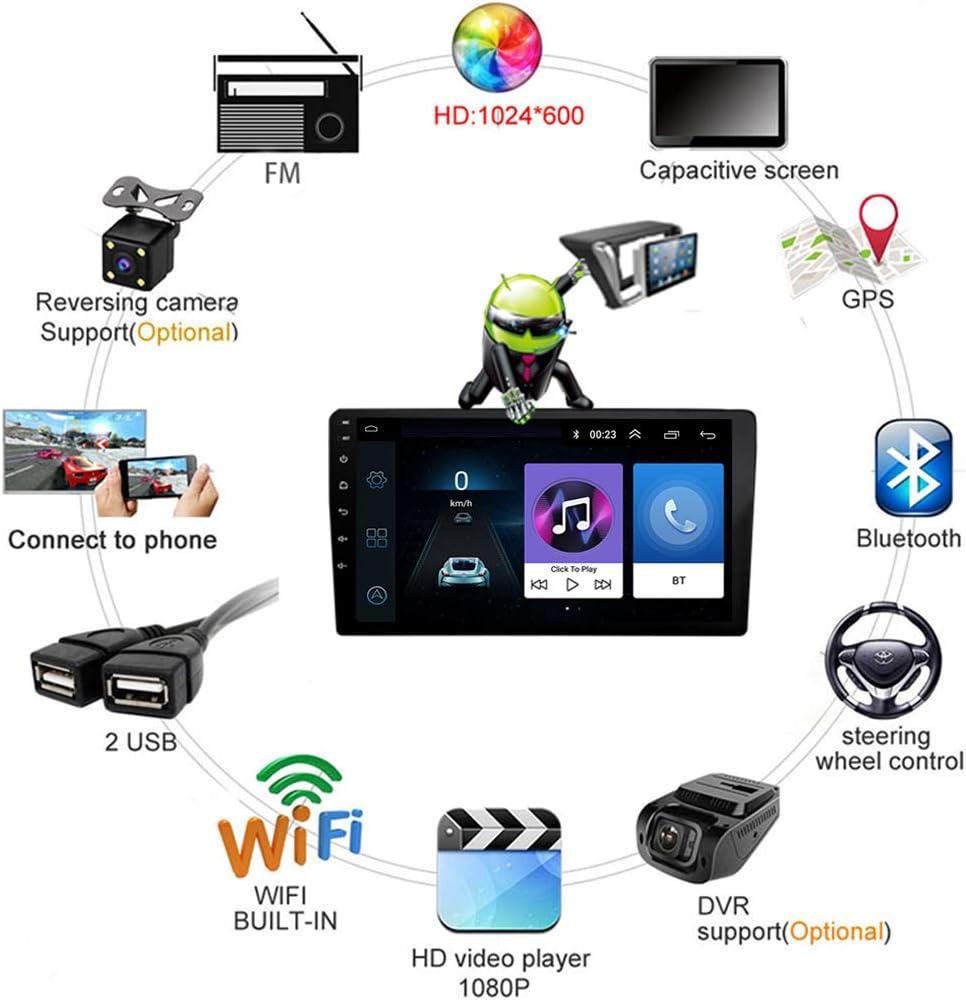 Soporte DVR USB//Llamadas Manos Libres Conexi/ón a Internet WiFi//BT Android 8.1 Quad Core GPS Navegador Coche para Renault Megane 3 2008-2014 FM Am Radio del Coche