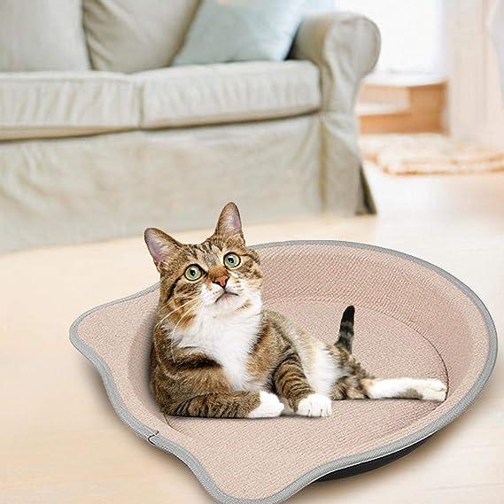 AOLVO Cama para rascar Gatos, Alfombrilla para Gatos, rascador para salón, cartón Corrugado Natural, rascador de Repuesto para Postes para rascar Gatos, ...