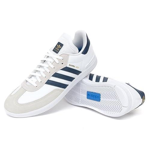 9248fab88a199 adidas Samba Advanced FTW White Navy Gold Shoes  Amazon.co.uk  Shoes ...