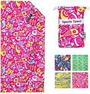 4monster Microfiber Beach Towel, Quick Dry Travel Towel, Super Absorbent, Lightweight, Compact, Suitable for T