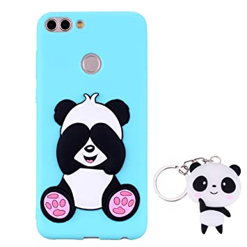 HopMore Panda Funda para Huawei P Smart Silicona con Diseño 3D Divertidas Carcasa TPU Ultrafina Case Antigolpes Caso Protección Cover Dibujos Animados ...