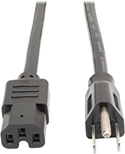 Tripp Lite Heavy Duty Power Cord, 15A, 14AWG (NEMA 5-15P to IEC-320-C15) 8-ft. (P019-008)