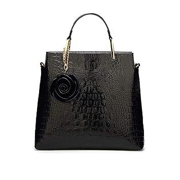 ecdf487f92 Sac a Main Femmes Bandoulieres Cuir Verni Sac Cabas Sacs bandoulière  Handbag Casual Sacs fourre-