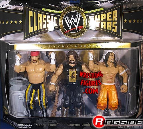 CACTUS JACK (MICK FOLEY), TERRY FUNK & SABU CLASSIC SUPERSTARS 3-PACK WWE TOY... by WWE