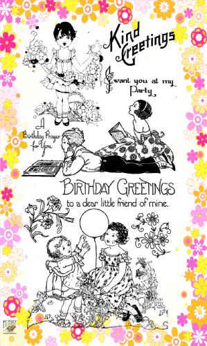 """Girls with Flowers // Clear stamps pack (4""""x7"""") FLONZ"""