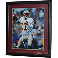 $163 » Authentic Autographed Charlie Ward FSU Seminoles Framed 16x20 Photo ~ Ward Throwing Without Heisman Insc