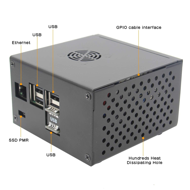 Geekwrom Raspberry Pi X850 V3.0 mSATA SSD Caja de expansión ...