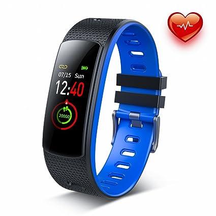 Dr.VIVA Pulsera Actividad,Reloj Fitness Pulsómetro Monitor y Sueño Impermeable IP67 Podómetro Pantalla