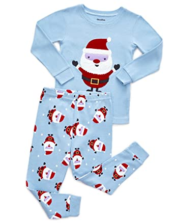06171df3ef Amazon.com  DinoDee Kids Pajamas Boys Girls 2 Piece Pjs Set Christmas  Styles 100% Cotton (2 Toddler-10 Years)  Clothing