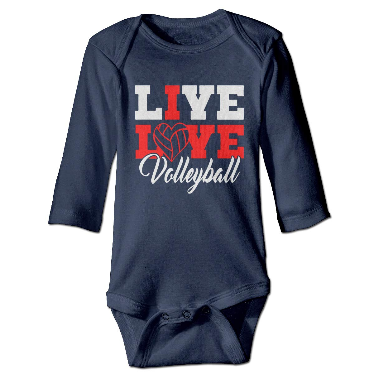 Just Born Baby Boys Girls Romper Bodysuit Infant Live Love Volleyball1 Long Sleeve Funny Climb Romper
