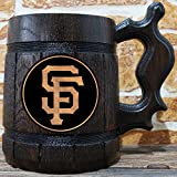 San Francisco Giants Beer Mug, Baseball Wooden Beer Stein, Sport Gift, Personalized Beer Stein, San Francisco Giants Tankard, Custom Gift for Men, Gift for Him