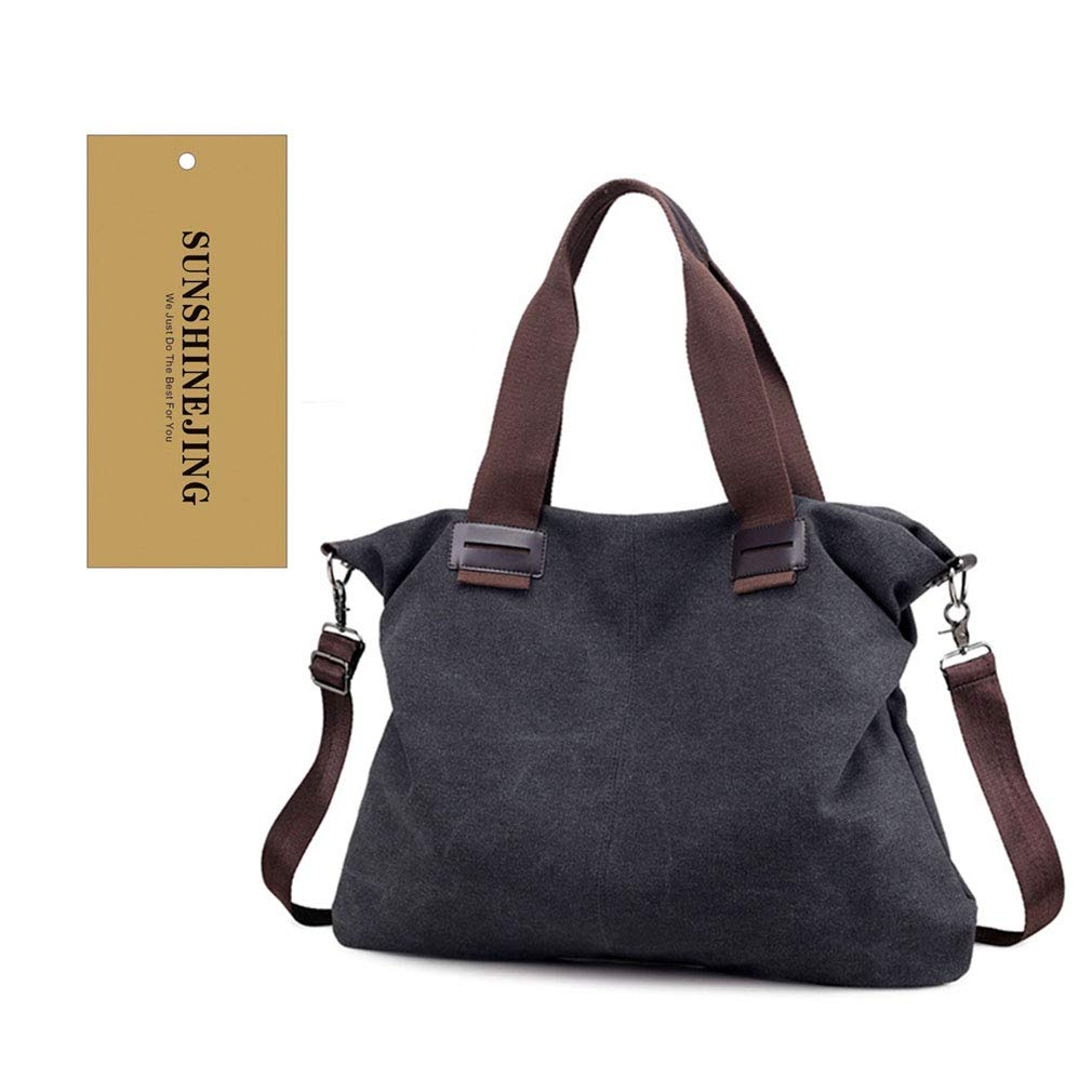 e8df079aa6dd Women's Canvas Shoulder Bags Crossbody Tote Purse Work Travel Weekender Bag