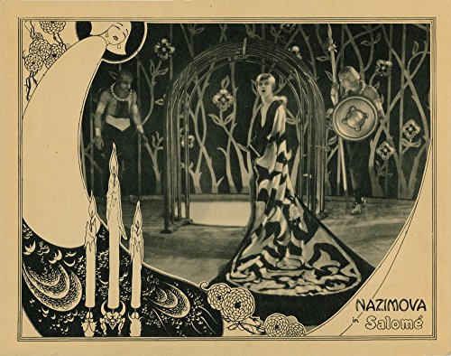 Posterazzi Salome Lobbycard Alla Nazimova Costumes and Art Direction Print by Natasha Rambova 1922 Movie Poster Masterprint, ((14 x 11)