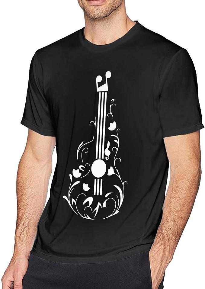 Camiseta de Manga Corta para Hombre de Tatuaje de Guitarra: Amazon ...