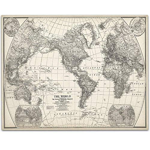 1922 World Map - 11x14 Unframed Art Print - Great Home Decor Under $15