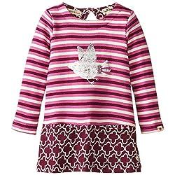 Hatley Little Girls' Color Block Dress Forest Birds