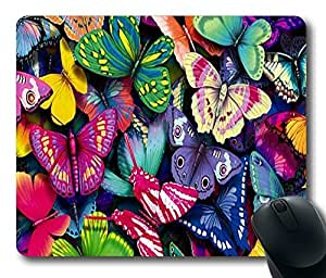 """Colorful Butterflies Custom Standard Oblong Gaming Mousepad in 220mm*180mm*3mm (9""""*7"""") -10112047"""