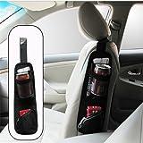 Universal Car Seat Storage Organizer - ZATOOTO Portable Hanging Storage Bag With Multi-pocket Mesh - Cell Phone Sun Glasses Drinks Holder Travel Organizer (Black)