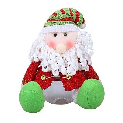 whitelotous Navidad Candy botella Candy caja de almacenaje redonda (tamaño grande Candy latas