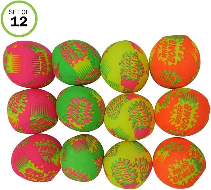 Evelots Water Bomb Splash Soaker Balls - Juego de 12 pelotas interactivas divertidas para piscina/fiesta en la playa: Amazon.es: Juguetes y juegos
