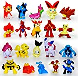 Fozo Hot Pokemon Mini Action Figures 24 Pcs Set Pokemon Monster Toys Set 1'' (2-3Cm)