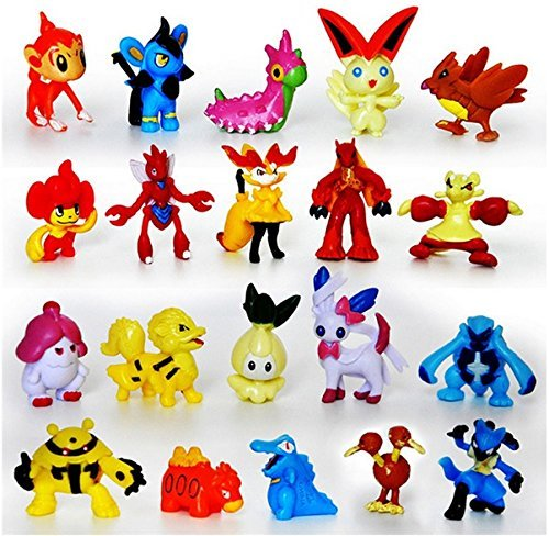 HOT Pokemon Mini Action Figures 24 Pcs Set Pokemon Monster Toys Set 1'' (2-3cm)