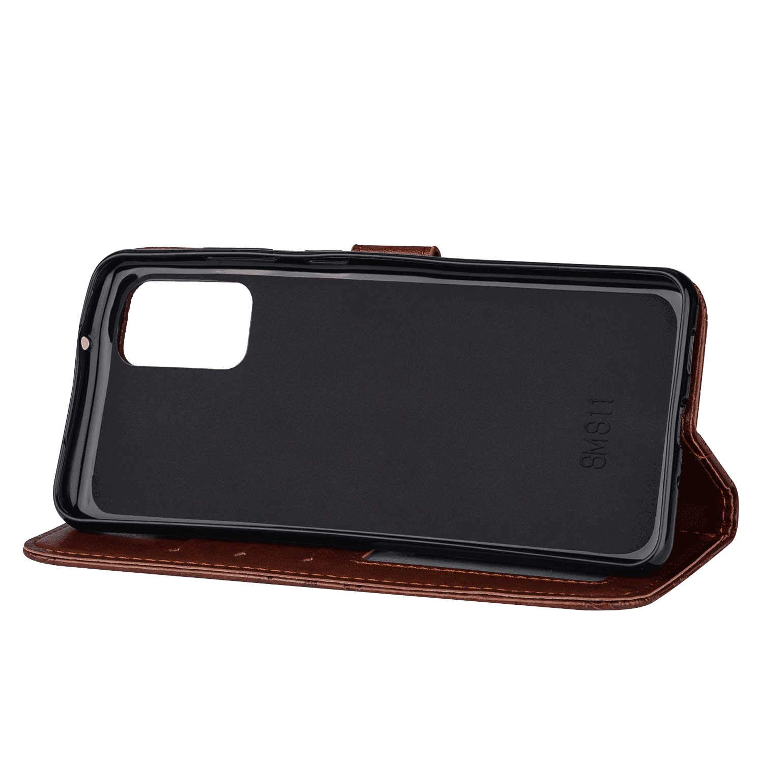 Stylish Cover Compatible with Samsung Galaxy A70 Brown Leather Flip Case Wallet for Samsung Galaxy A70