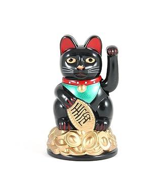 Gato de la Suerte y la Fortuna Maneki Neko de 9 cm Saludando: Amazon.es: Hogar