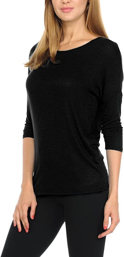WOMENS NEW BLACK V NECK STRETCH TOP 3//4 SLEEVE SIZE 16-24 NEW WITH TAGS