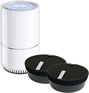 Nispira True HEPA H13 Air Filter Replacement Compatible with hOmeLabs Compact Air Purifier HME020248N with Night Light Office Bedroom, 2 Units
