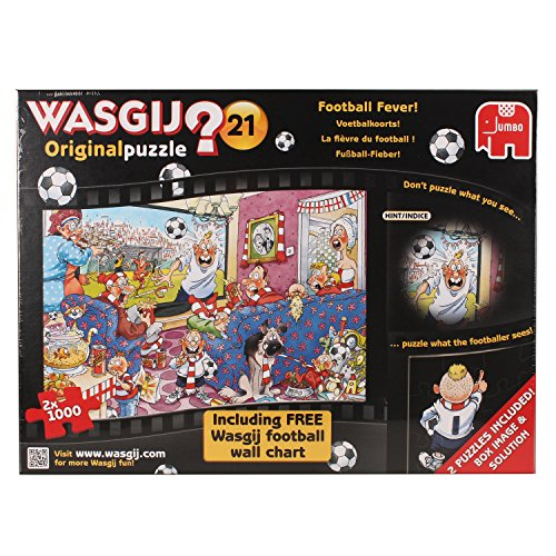 Wasgij Original Football Fever Jigsaw Puzzles With Free Football Wall Chart (2
