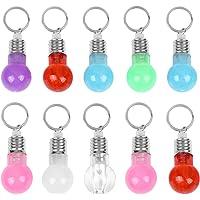 SOIMISS 21pcs mini LED bombilla llaveros flash coloridos llaveros colgantes llavero (3pcs cada transparente + rojo…
