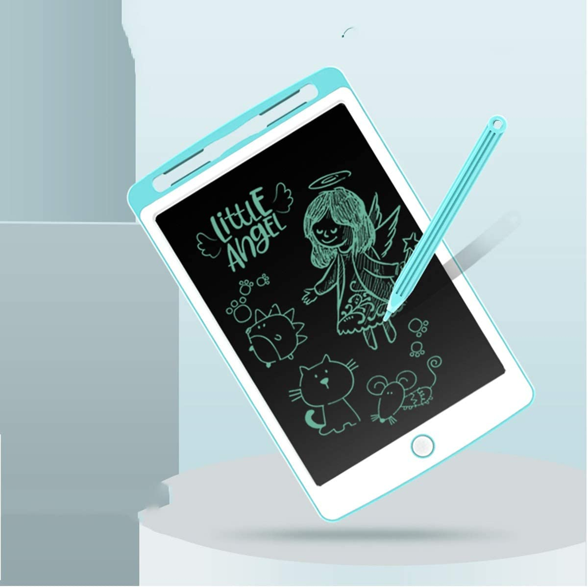 Smart Graffiti Draft Electronic Tablet Artboard Hand Haoyushangmao LCD Tablet Paint Board Erasable Blue Sketchpad White Color : 10.2 Blue