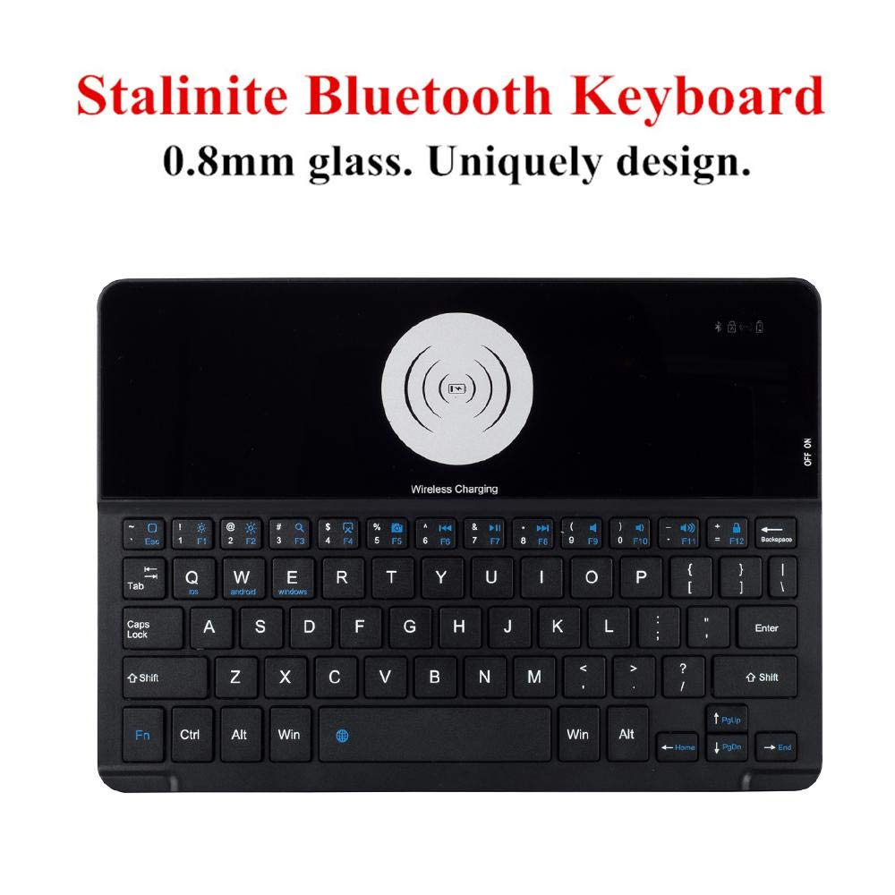 OXOQO Bluetooth Folio Keyboard Case for iPad Air/iPad Pro 9.7 / New iPad 9.7'' - Smart Wireless Tablet Keyboard Cover with Detachable Shell Wireless Charging 60 Days Stand by by OXOQO (Image #3)
